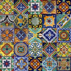 details about 100 mexican 4x4 tile mix kitchen backsplash wall