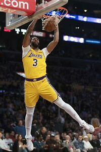 details about los angeles lakers anthony davis dunking poster 24x36 inches