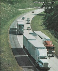 Official 1993 PENNSYLVANIA TRUCKERS GUIDE Map Truck Stops Placards     Image is loading Official 1993 PENNSYLVANIA TRUCKERS GUIDE Map Truck Stops