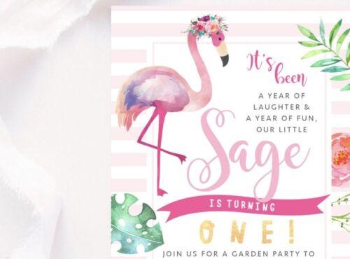 cards invitations printable girl s birthday invitation tropical flamingo theme digital file invite home furniture diy luxurytour in