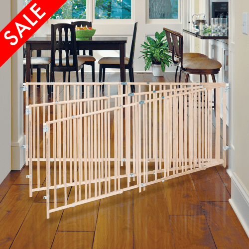 large baby gate child dog pet safety fence 5 8 foot extra wide swing gates new