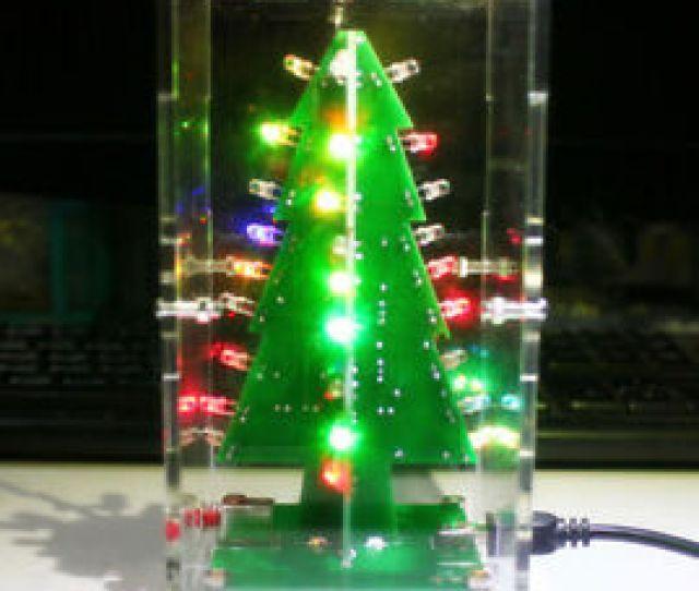 Image Is Loading Electronic Led Diy Kit D Christmas Tree Flashing