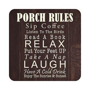 details about porch rules patio sign indoor outdoor aluminium metal garden decor sign plaque
