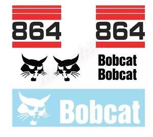Bobcat 864 Turbo Skid Steer Set Vinyl Decal Sticker