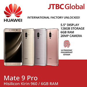 New Huawei Mate 9 Pro Lon-L29 5.5 Inch Dual Sim 128GB Factory Unlocked Android