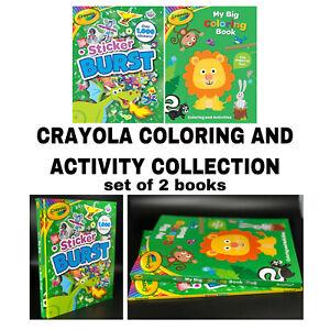 Crayola Sticker Coloring Book Childrens Activity Books 2 Book Set Ebay