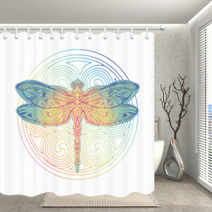 details about dragonfly shower curtain for bathroom fabric bath curtains with 12pcs hooks
