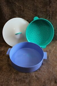 details about tupperware micro steamer microwave steamer colander rice cooker 3066 a