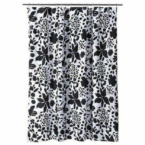 room essentials floral shower curtain black white for sale online ebay