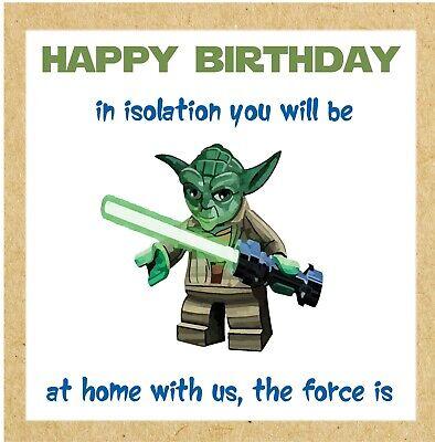 Funny Virus Happy Birthday Yoda Star Wars Card Greetings Lockdown Pandemic Uk Ebay