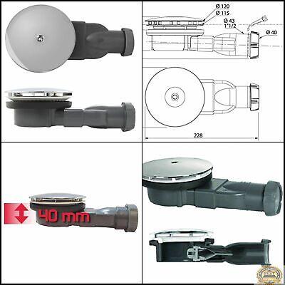 bonde douche extra plate pour receveur diametre 90 mm classe energetique a neuf ebay