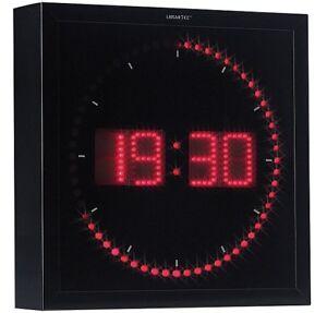 Horloge Digitale Murale Avec 60 Led Rouge Lunartec Ebay