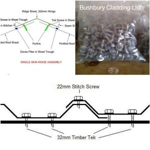 details about tile effect roof sheet stitch screws fasteners best on ebay 22mm