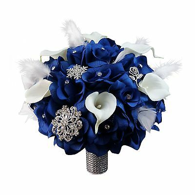 Royal Blue And Silver Wedding Flowers Collection On EBay