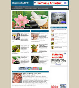 RHEUMATOID ARTHRITIS ADVICE WEBSITE AND STORE WITH AFFILIATE BANNERS AND DOMAIN