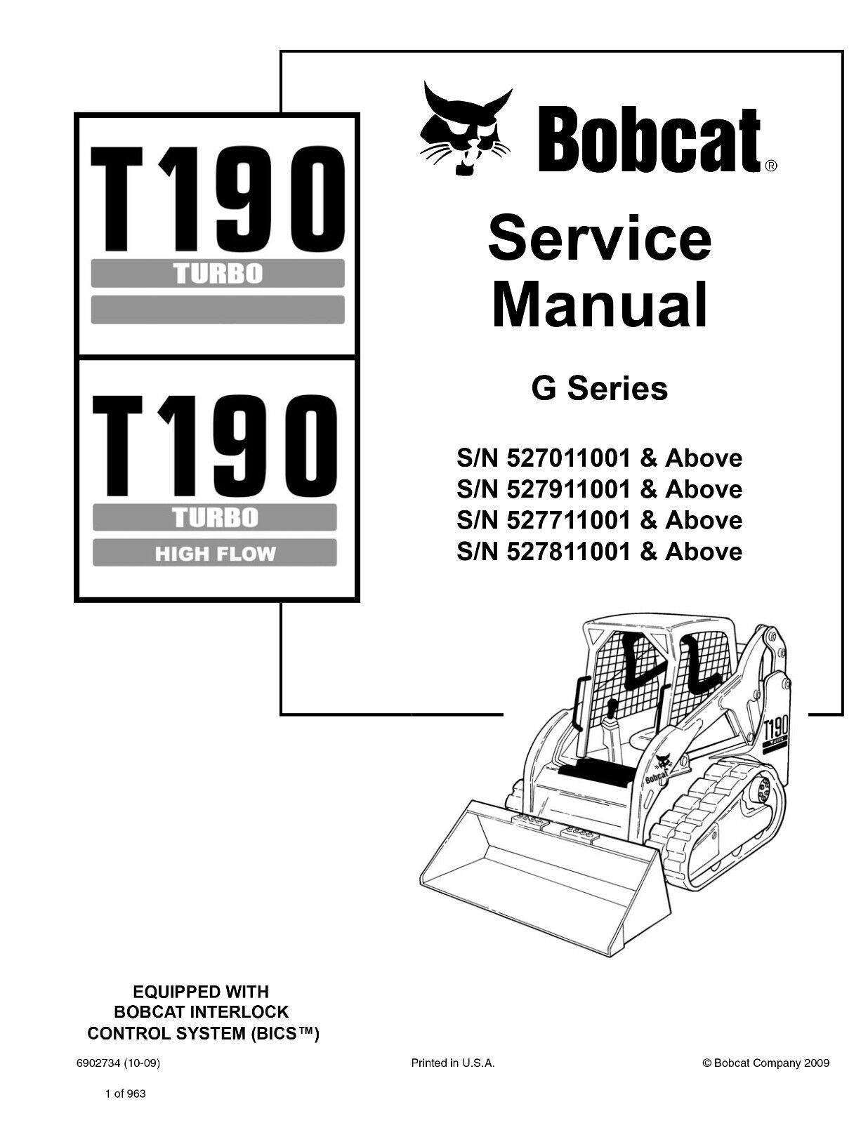New Bobcat T190 Turbo Highflow G Series Edition