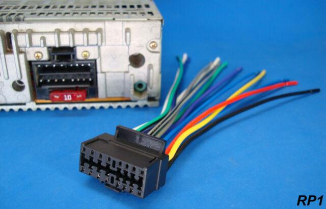 new sony xplod 16pin radio wire harness car audio stereo power plug back  clip
