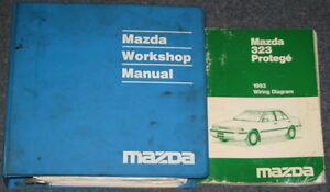 1993 Mazda 323 Protege Service Workshop Manual Set | eBay