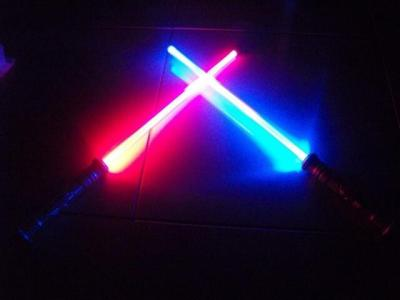 2 LED FX Lightsaber Light Saber Sword Star Wars Toy Changes Color When  Struck For Sale Online | EBay