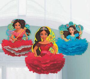 Disney Princess Elena Of Avalor Birthday Party Hanging Fluffy Decorations 3pcs Ebay