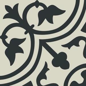 details about 8x8 deco black white arabesque pattern spanish ceramic mosaic tile mto0473
