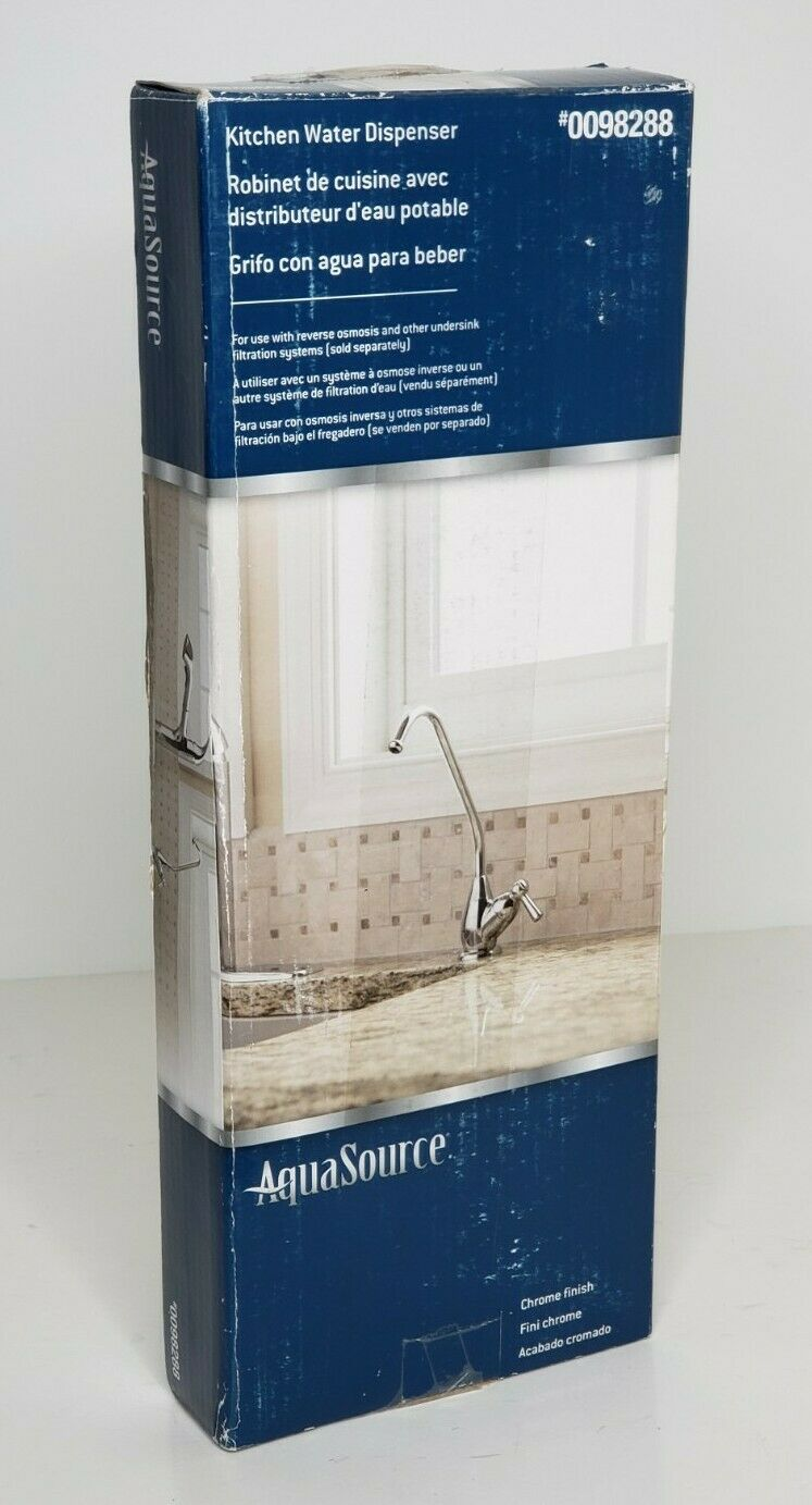 aquasource kitchen water dispenser sink faucet 0098288 chrome finish01993489