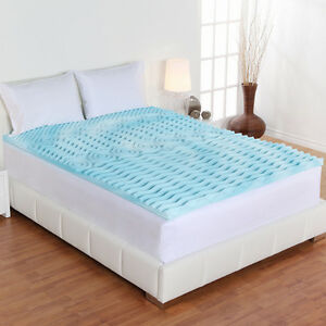 Image Is Loading All Size Gel Foam Memory Mattress Topper Pad