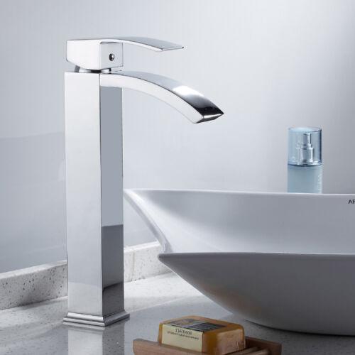 plomberie robinetterie salle de bain cascade robinets melangeur carre bec en laiton mono chrome togao