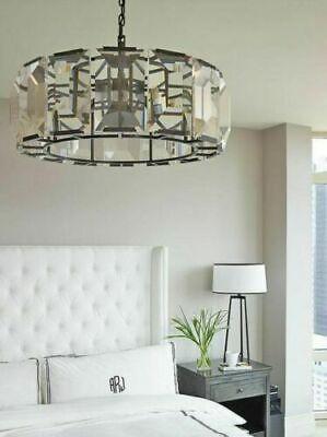 new restoration hardware replica harlow chandelier pendant bronze crystal glass ebay