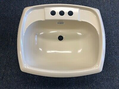 white square plastic lavatory sink with