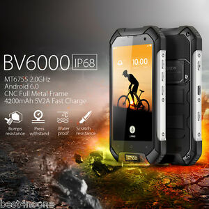 """Blackview BV6000 4G Waterproof Smartphone Android Octa cores 4.7"""" 3GB/32GB 13MP"""