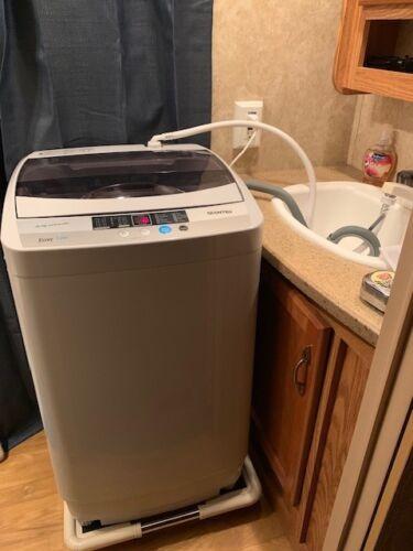 giantex ep23113 portable washing machine with drain pump white