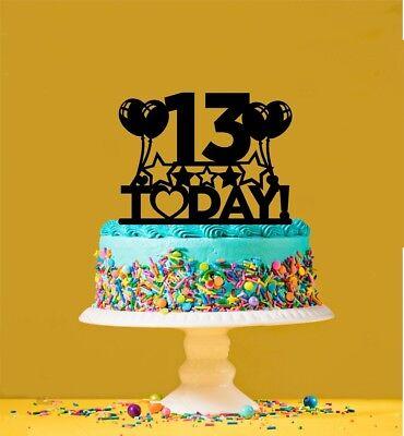 13th Birthday Acrylic Cake Topper 13 Years Old Thirteenth Ebay