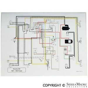 Full Color Wiring Diagram, Porsche 356 PreA Speedster (5455) | eBay