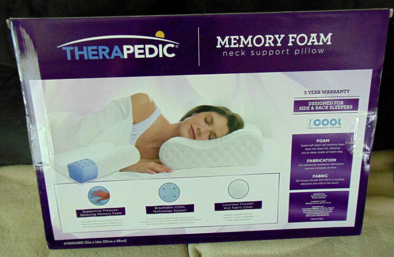 therapedic memory foam neck support
