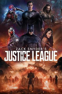 zack snyder s justice league hbo max movie poster custom print 24x36 60x90cm ebay