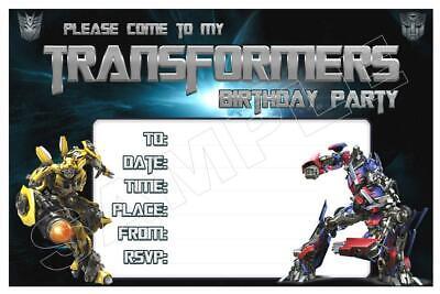 1 x transformers childrens blank fill in diy birthday invitations free magnets ebay