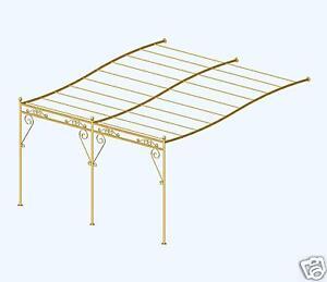 details sur superbe pergola provencale fer forge en kit 4 m x 3 m
