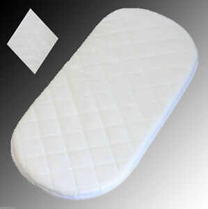 Image Is Loading Soft Quilted Moses Basket And Crib Craddle Mattress