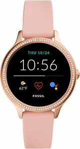 Fossil Gen 5e Smartwatch 42mm Silicone - Pink