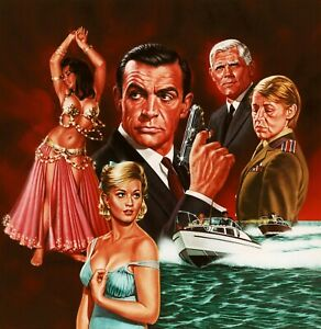 details about 007 james bond from russia with love art canvas movie poster print sean connery