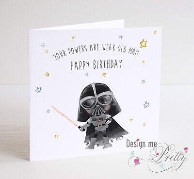 Star Wars Darth Vader Birthday Card Father Son Brother Dad Grandad Uncle Ebay