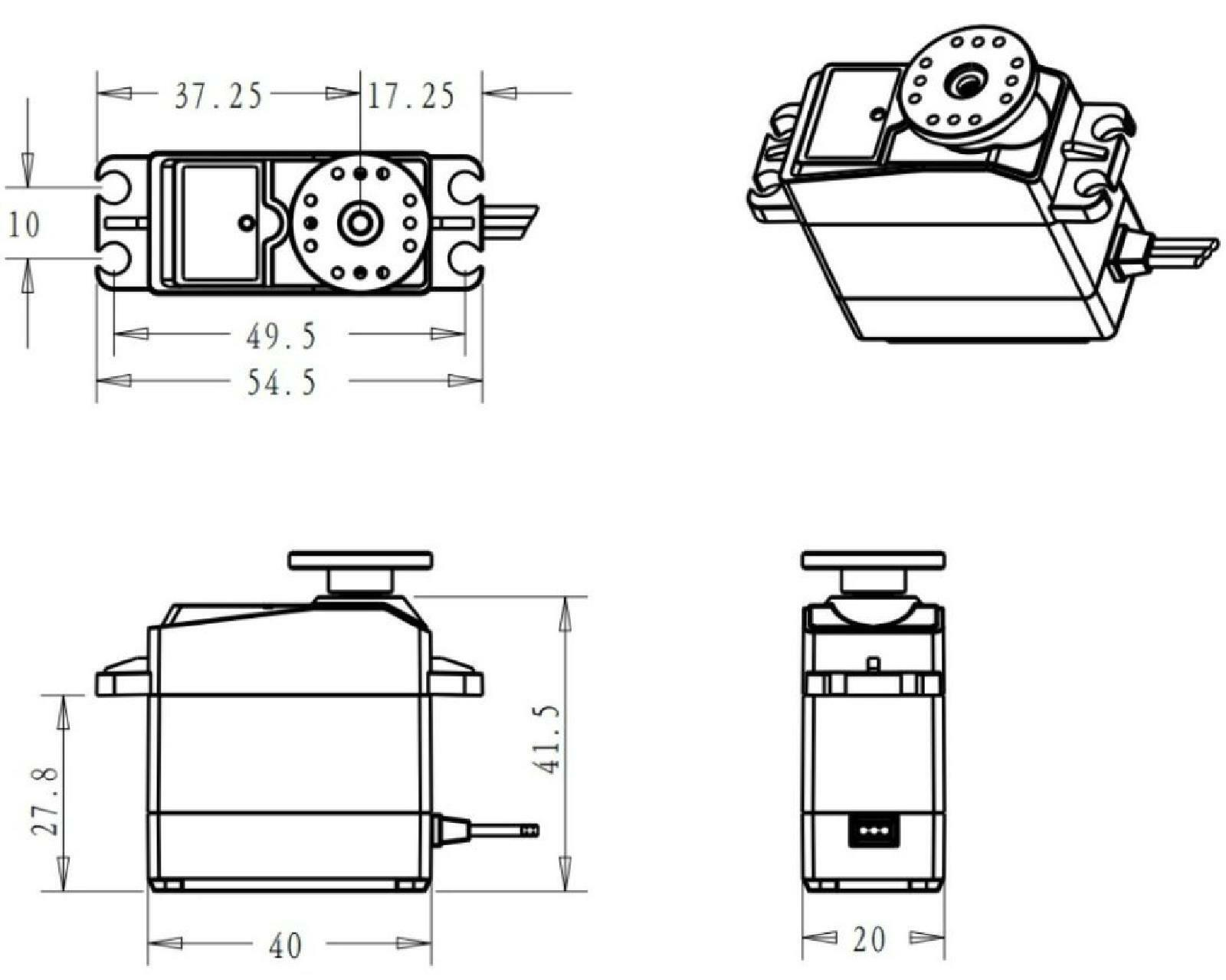 Ds Sg 35kg High Torque 180 Coreless Waterproof Metal