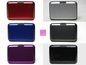 Aluminium Kartenetui RFID NFC Blocker Kreditkarten Schutzhülle Funk Daten Schutz