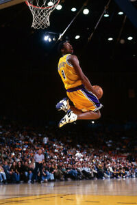details about kobe bryant dunk motion lakers black mamba art wall room poster poster 24x36