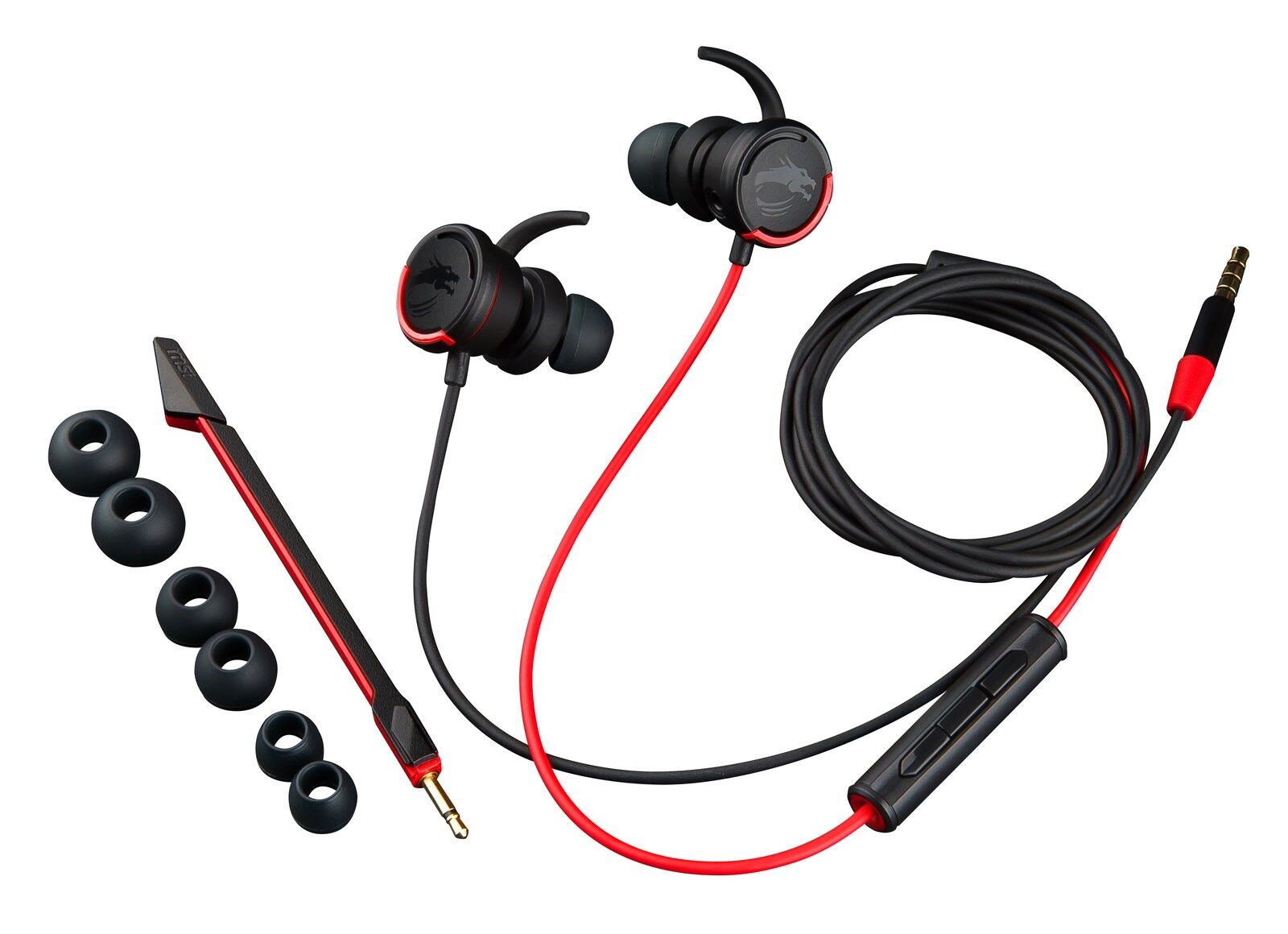 Msi Immerse Gh10 In Ear Gaming Headset With Detachable
