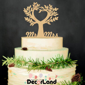 Wooden Rustic Wedding Cake Topper Life Tree Wedding Engagement Party     Image is loading Wooden Rustic Wedding Cake Topper Life Tree Wedding
