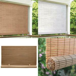 details about cordless indoor outdoor roll up exterior sun shade window blinds deck patio pvc