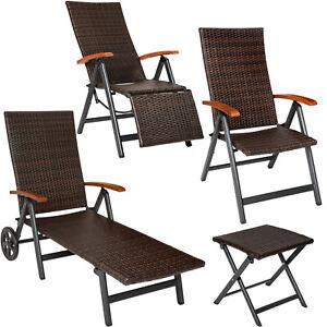 details sur aluminium resine tressee meubles jardin tabouret pliant chaise longue fauteuil