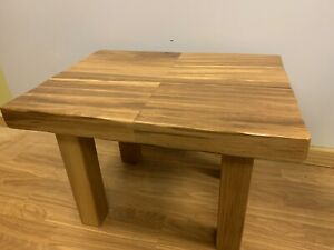 details about hand made massive block solid wood iroko african teak coffee table heavy